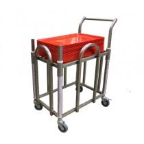 Chariot à plateaux ABS 600 x 400 mm à niveau canstant , inox AISI 304 ,L 680 x P 500 x H 920 mm