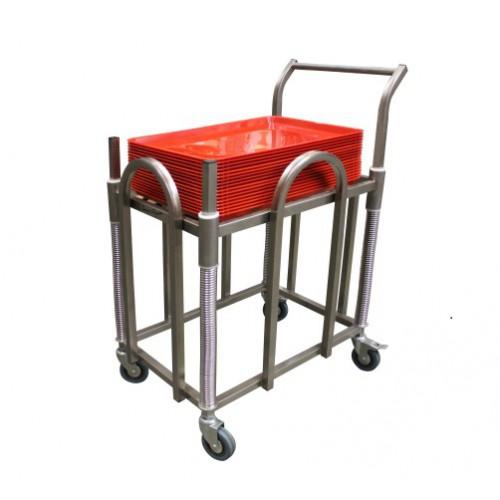 Chariot plateaux abs 600 x 400 mm niveau constant en for Chariot inox cuisine professionnelle