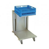Chariot à niveaux constant pour casiers vaisselle , inox , L 550 x P 650 x H 900 mm