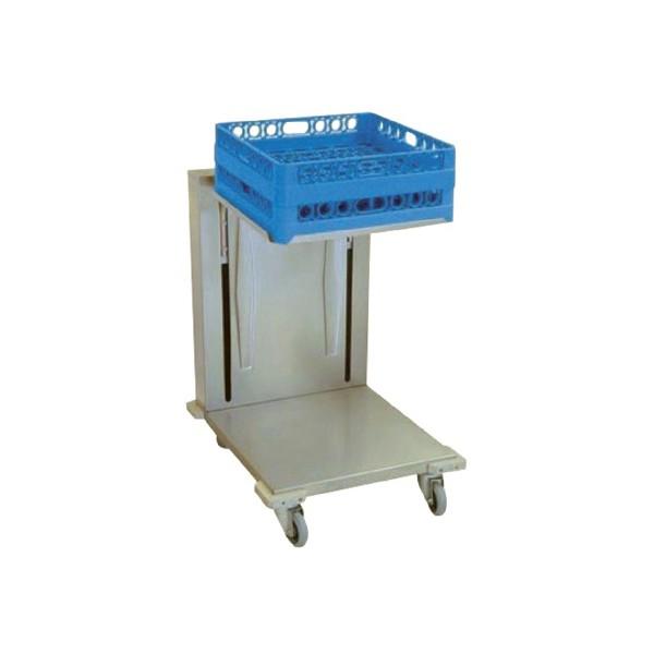 Chariot niveaux constant pour casiers vaisselle en inox for Chariot inox cuisine professionnelle