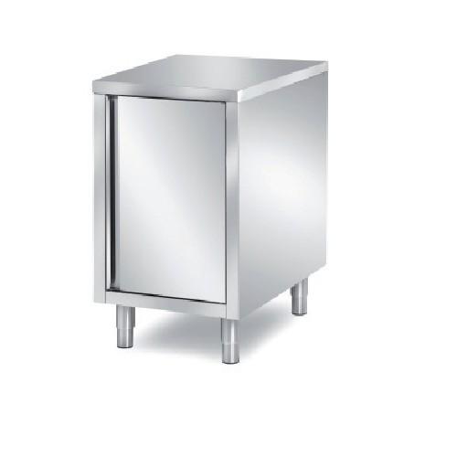 meuble bas 1 porte battante double central avec dosseret l 600 x p 700 x h 850 mm
