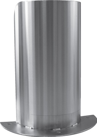 Protection d 39 angle inox fixe demi lune soud e l 300 x for Protection cuisine inox
