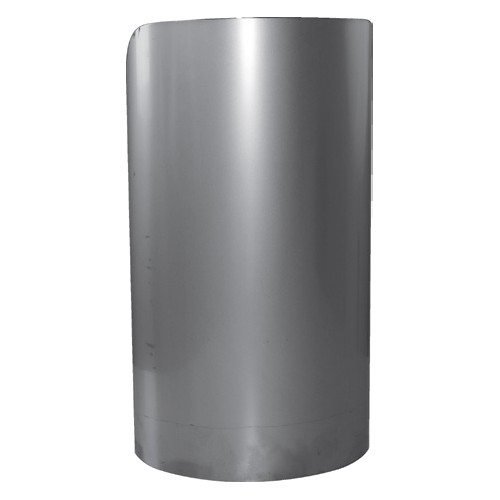 Protection d 39 angle inox fixe demi lune soud e l 300 for Protection cuisine inox