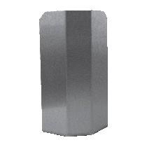 Protection d'angle, inox, fixe demi-lune, pliée, L 250 x P 150 x H 350 mm