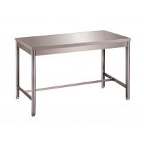 Table démontable pieds ronds, centrale, inox AISI 304, profondeur 600 mm