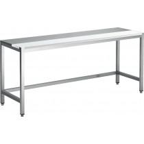 Table de decoupe professionnelle, mixte avant-arrière , inox ferritique , dessus poly, profondeur 800 mm