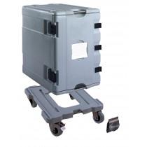 Coffre isotherme neutre type AF12, 1 conteneur avec chariot ,