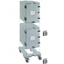 Coffre isotherme neutre type AF12 , système complet ( 2 conteneurs AF12 et 1 chariot )