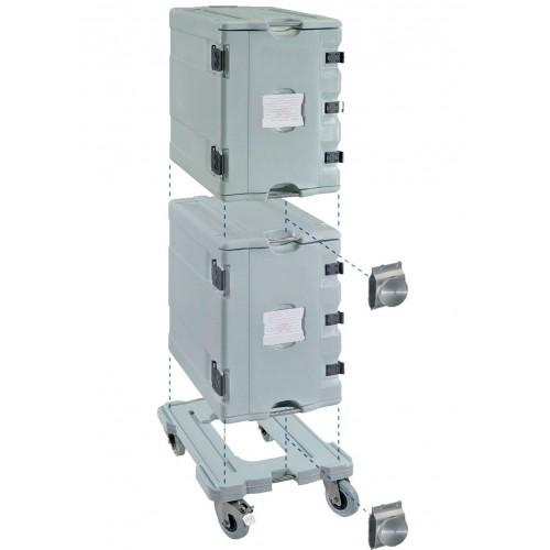 Coffre isotherme neutre, système complet ( 2 conteneurs AF12 et 1 chariot )