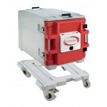 Coffre isotherme avec porte chauffante analogique, type AF12, 1 conteneur avec chariot