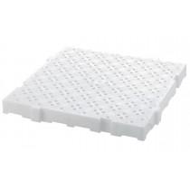 Caillebotis professionnel anti-dérapant , blanc , L 500 x P 500 x H 50 mm
