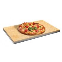 Plaque réfractaire à pizza pour four à convection, L 530 x P 325 x H 15 mm