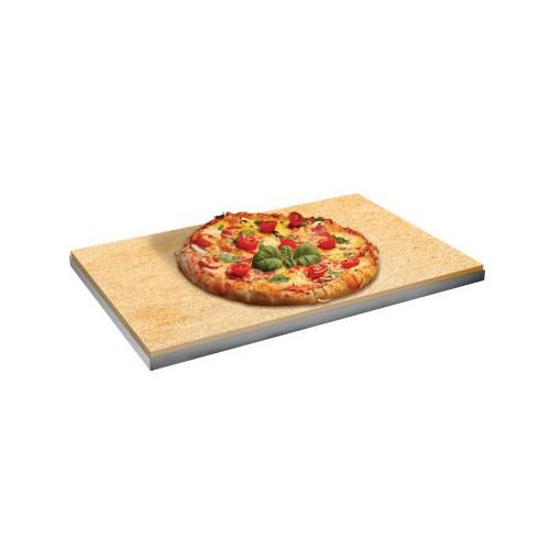 Plaque réfractaire à pizza pour four à convection, L 600 x P 400 x H 15 mm