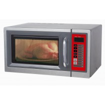 Four micro-ondes professionnel programmable, inox, 30L, 1,6 Kw