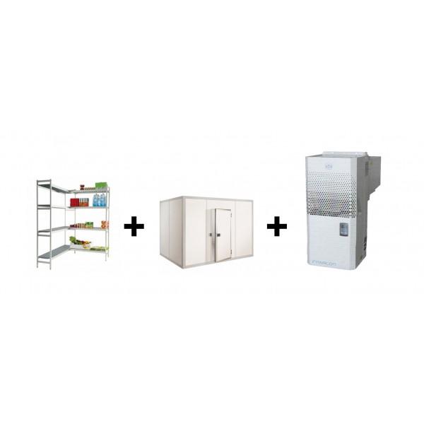 Chambre froide negative l 3400 x p 1800 mm avec rayonnage for Rayonnage chambre froide
