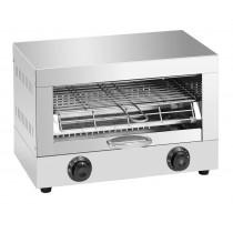 Toaster professionnel inox, avec une puissance de 1,7 Kw