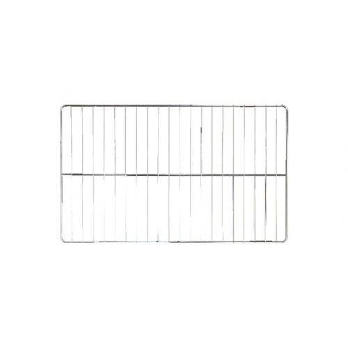 Grille gastronome et pâtissière, inox GN 1/1 530 x 325 mm, 1 traverse, 12 fils