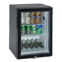 Minibar, porte vitrée, noir, L 400 x P 452 x H 560 mm