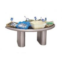 Îlot à coquillages en forme d'amande, en inox AISI 304