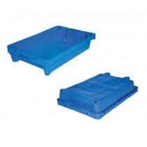 Bac de criée bleu avec système de drainage, capacité 15 litres