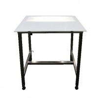 Table de filetage avec tube fluorescent 36 W, en inox AISI 304