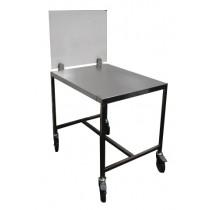 Tables support trancheur en inox AISI 304, profondeur 600