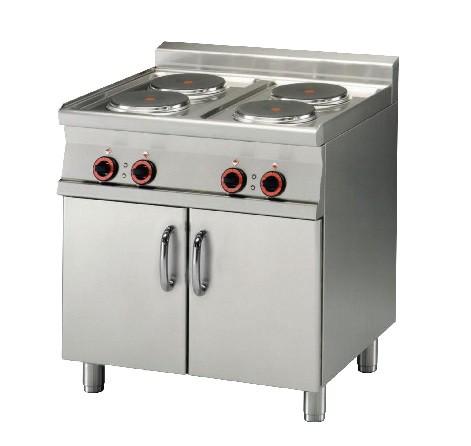 Piano de cuisson lectrique sur meuble placard ferm - Piano de cuisine electrique ...