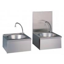 Lave-mains cuisine professionnelle, en inox, cuve ronde