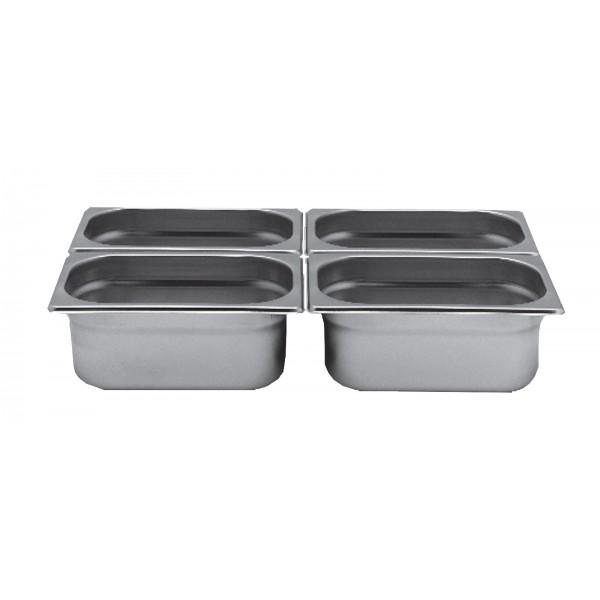 Bac inox cuisine gastronorme gn1 4 plein inox aisi 304 for Bac de cuisine inox