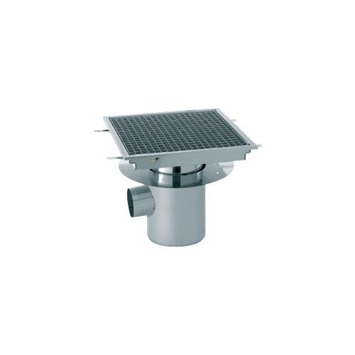 Siphon avec cuvette monobloc 1500 x 250 mm sortie horizontale centr e 100 mm stl sarl - Siphon de sol cuisine professionnelle ...