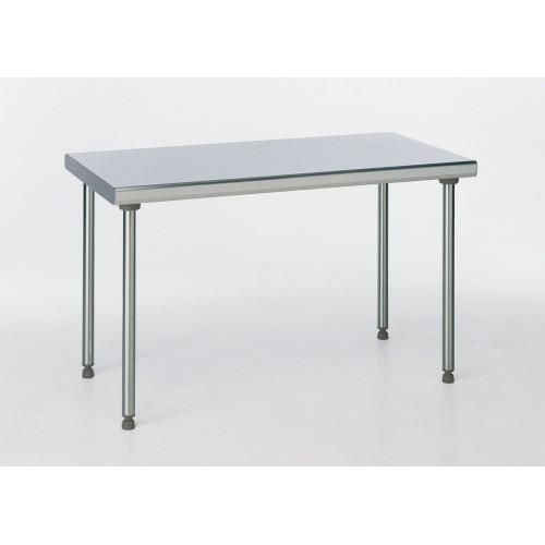 Table Inox Ts 15n Demontable Sur Pietement Centrale Pieds