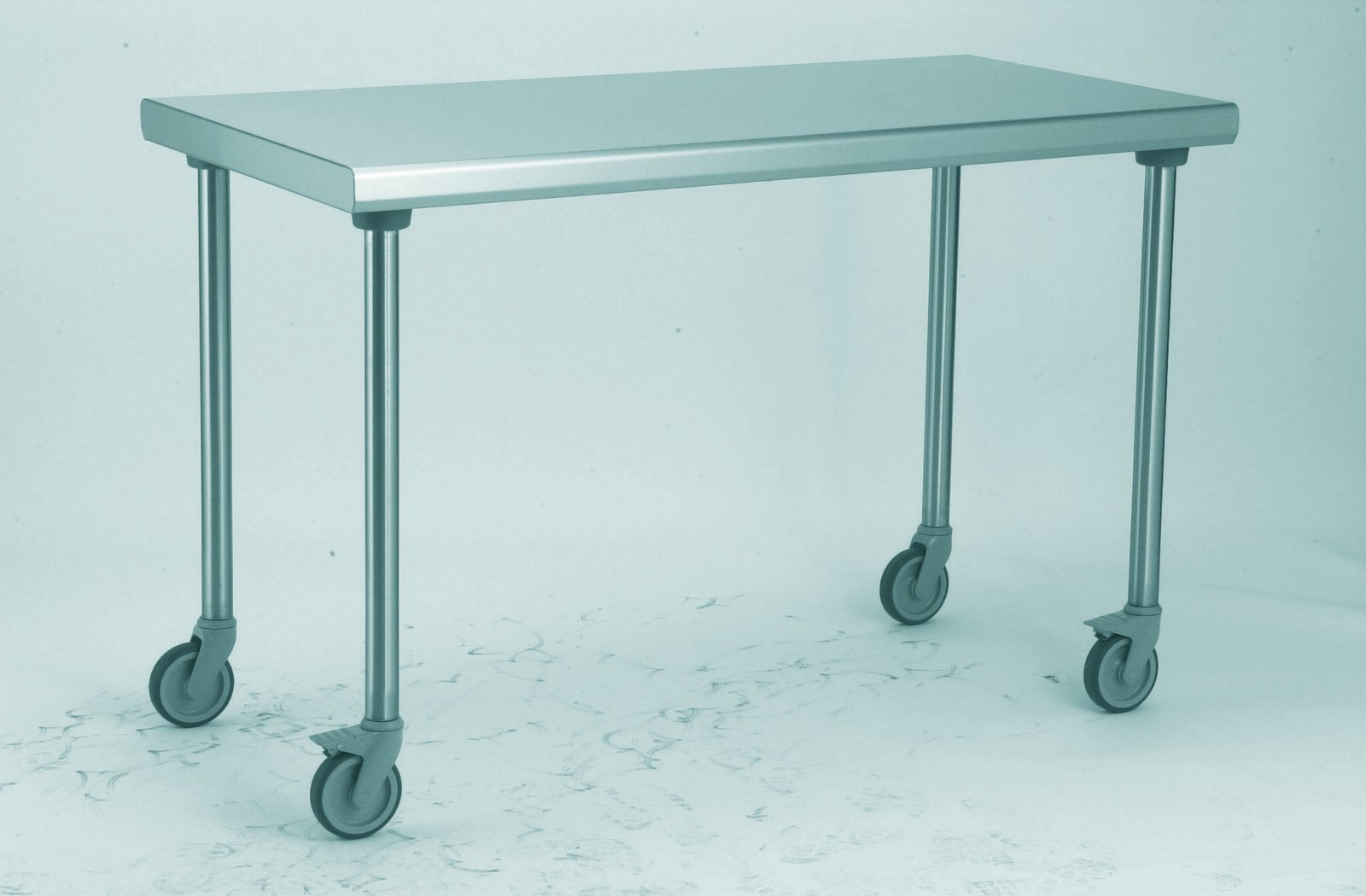 Table Inox Ts 15n Demontable Sur Roues Centrale Pieds Ronds