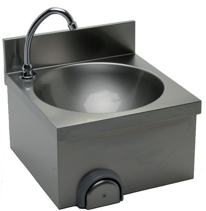 Lave main cuisine professionnelle avec dosseret h 30 mm for Dosseret cuisine inox