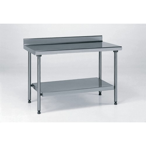 table inox ts 15n d montable sur mesure dosseret tag re pieds ronds largeur 700 mm. Black Bedroom Furniture Sets. Home Design Ideas