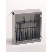 Armoire de stérilisation, 25 couteaux, 1 porte avec grille en tôle découpée