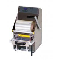 Conditionnement et emballage, operculeuse barquette multiform semi-automatique avec tiroir coulissant