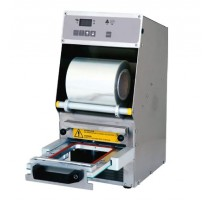 Conditionnement et emballage, operculeuse barquette multiform 3, automatique avec tiroir coulissant