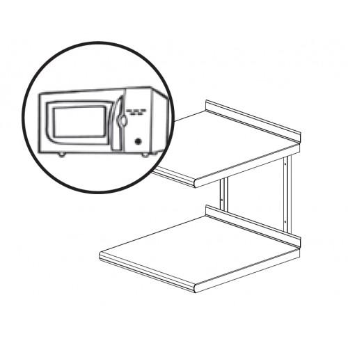 etag re inox pour four micro ondes 1 ou 2 niveaux l 600. Black Bedroom Furniture Sets. Home Design Ideas