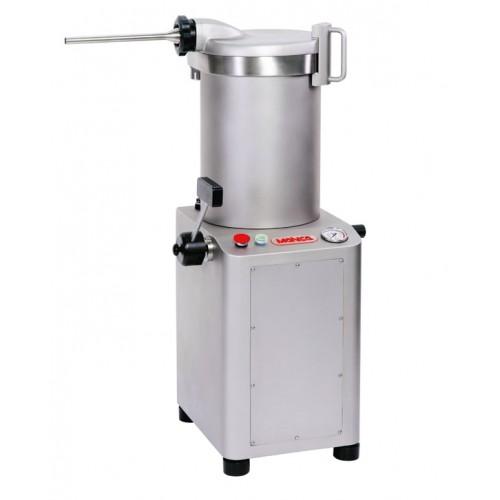 Poussoir hydraulique doté d'une puissance de 1290 W, inox sablé, 25 litres