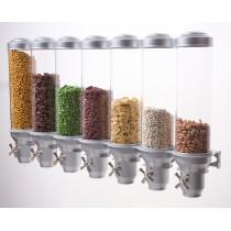 """Distributeur mural d'aliments secs """"Pro serv"""", gamme Deluxe, 7 x 4.5 L"""