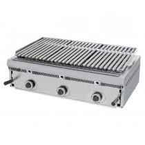 Grill à pierres de lave réglables, L 900 x P 550 x H 250 mm, 70 Kg