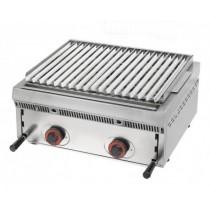 Grill à pierres de lave réglables, L 600 x P 550 x H 250 mm, 50 Kg