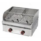 Grill à pierres de lave inclinables, L 600 x P 550 x H 250 mm, 50 Kg
