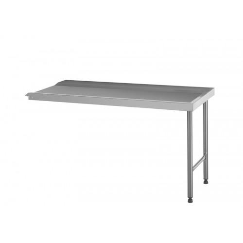 Table de sortie standard, raccordable à droite ou à gauche, en acier inoxydable, largeur 600 mm
