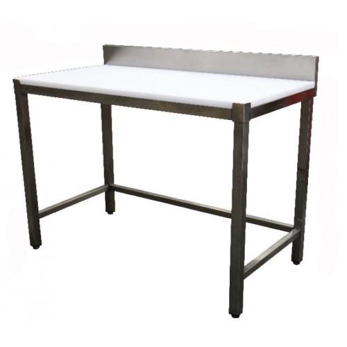 Table de découpe professionnelle, adossée, en inox ferritique, P 600 mm