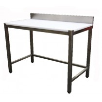 Table de découpe professionnelle, adossée, en inox AISI 304, P 700 mm