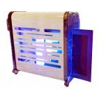 Carter inox avec lampes à économie d'energie et glu, 230V Mono