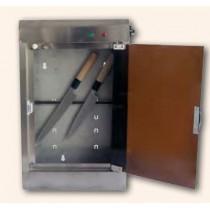 Armoire de stérilisation couteaux à tube uv, avec barre aimantée, profondeur 125 mm