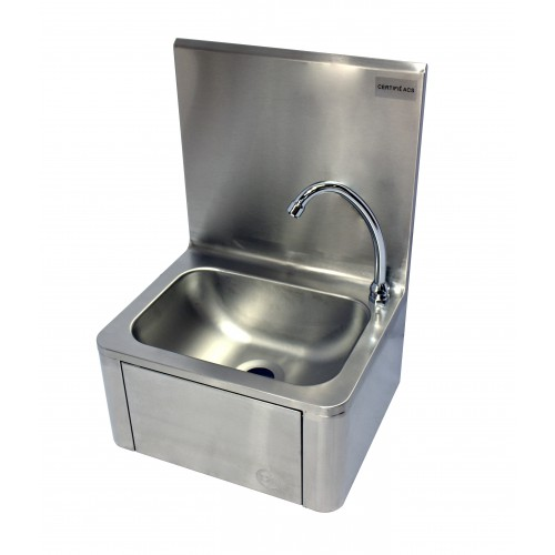 Lave main cuisine professionnelle,  commande fémorale, L 400 x P 340 x H 560 mm