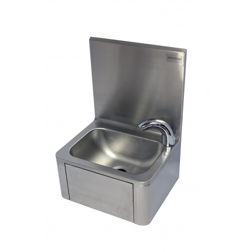 Lave main cuisine professionnelle, avec robinet électronique L 400 x P 340 x H 560 mm